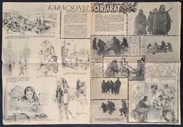 Cca 1939-1944 A Világháború Főhadszínterei, II Világháborús újságmelléklet, 38x55 Cm. - Maps
