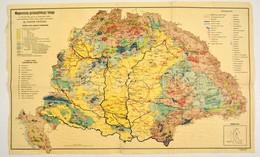 Cca 1928 Fodor Ferenc Magyarország Gazdaságföldrajzi Térképe, 1:1500000, Magyar Földrajzi Intézet, Ragasztott, Kis Szaka - Non Classés