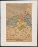 Alsó Szajna Térképe, Francia Nyelvű, Javított Szakadással, Paszpartuban, 19x12,5 Cm - Maps