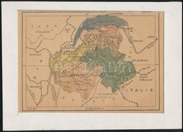 Francia Alpok Térképe, Paszpartuban, 13x19 Cm - Maps