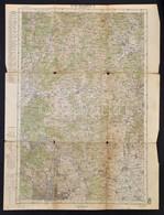 1915 Katonai Térképek, összesen 5 Db Szombathely, Budapest,  Pozsony, Magyaróvár, Budapest Észak (és Környéke) Katonai T - Non Classés