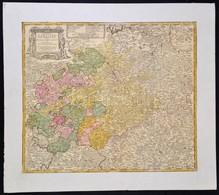 1757 Friedrich Zollmann; Adam Friedrich Zurner: Szászország Rézmetszetű Térképe. Circuli Super. Saxoniae Pars Meridional - Maps