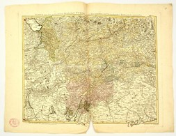 Tirol Térképe Jean Welch: Karte Der Gefürsteten Grafschaft Tyrol Nebst Vorarlberg...  Augsburg, 1797. Nagyméretű Színeze - Maps
