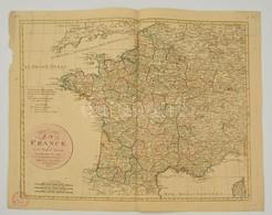 Franciaország Térképe Az 1790-es Reform Után. Jean Walch: Le Royaume De France En 83 Departs Suivant Les Decrets De 1790 - Maps