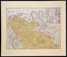 Homann, Johann Baptist (1663-1724): Morvaország, A Brünni Kerület Rézmetszetű Térképe. Paszpartuban. / Marchionatus Mora - Maps