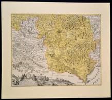 Cca 1700 Csehország Déli Részének, és A Magyar Királyság Szegletének Rézmetszetes Térképe. Színezett Rézmetszet, Vadászj - Maps