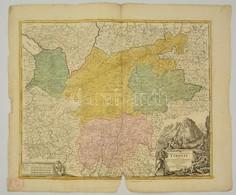 Cca 1700 Tirol Térképe. Comitatus Principalis Tirolis In Quo Episc. Tridentin Et Brixensis Comitatus ... Homann, Johann  - Maps