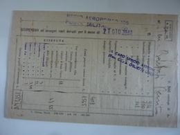 """Busta  """"STIPENDIO REGIA AERONAUTICA  Posta Militare REGIO AEROPORTO 105"""" 27 Giugno 1943 - Documenti Storici"""