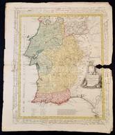 1800 Portugál Tartomány Térképe.  Les Provinces Méridionales De Portugal, Savoir - Dressée Nouvellement Par F. L. Güssef - Non Classés