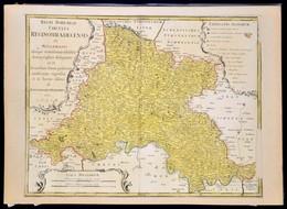Homann, Johann Baptist (1663-1724): Csehország, Morvaország Térképe. Rézmetszetű Térkép. Paszpartuban. / Regni Bohamiae  - Non Classés