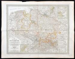 1845 C. F. Weiland: Hannoveri Királyság Térképe. Nagyméretű, Rézmetszet. / Large Map Of Kingdom Of Hannover. Large Etche - Maps