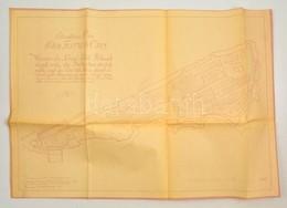 Cca 1950 Budavár Térkép és Helyszínrajz Másolata. Situations Plan Der Festung Ofen. 72x50 Cm - Maps