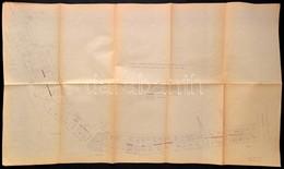 Cca 1950 A Pesti Városfal Látható Részeinek Bemutatás Térképen 100x60 Cm - Non Classés