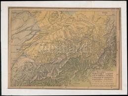 Francia Nyelvű Alpok Térkép, Ch. Decaux, Ragasztott Szakadással, Paszpartuban, 19x25,5 Vm - Non Classés