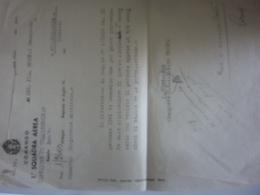 """Lettera """"COMANDO 1° SQUADRA AEREA Oggetto COMPETENZE ARRETRATE"""" 1944 - Documenti Storici"""
