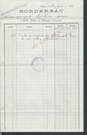 FACTURE DE 1911 TAMPON BODINEAU & ROY BANQUIER À JOIGNY : - France