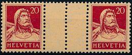 Schweiz Suisse 1927: Zwischensteg / Se-tenant Avec Pont Zu S39 Mi WZ23C ** Postfrisch MNH (Zu CHF 110.00) - Se-Tenant