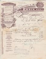 Facture Lettre Illustrée 25/3/1903 ROBIN Ex Lagrange Couveuse à Air Chaud  AUTUN Saône Et Loire - élevage - France