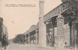 Paris - Métropolitain Boulevard De La Gare (ligne No 6, Station Nationale) - Métro Parisien, Gares