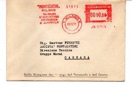 1952 Affrancatura Meccanica Rossa EMA Freistempel Milano MONTECATINI Soc. Gen. Per Industria Mineraria E Chimica - Affrancature Meccaniche Rosse (EMA)
