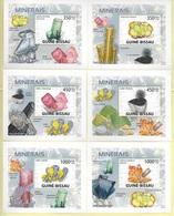 TIMBRES - STAMPS - SELLOS - GUINÉE-BISSAU / GUINÉ-BISSAU - 2009 - MINÉRAUX - BLOCS AVEC TIMBRES NEUFS - MNH - Minéraux