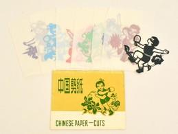 Zhongguo Jianzhi / Chinese Paper-cuts. Kínai Papírkivágások Pingpong Témában, összesen 8 Db - Old Paper