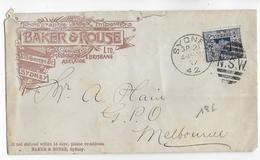 NEW SOUTH WALES - 1897 - ENVELOPPE PUB DECOREE (PHOTOGRAPHIE) De SYDNEY => MELBOURNE - Briefe U. Dokumente