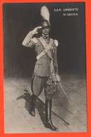 Savoia Principe Umberto Di Piemonte Foto Da Giovane In Uniforme - Case Reali