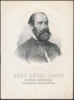 Révay Simon, Báró (1820-1880) Túróc Vármegye  Főispánja Kőnyomatos Képe. Marastoni József Munkája / Lithographic Image 2 - Non Classés