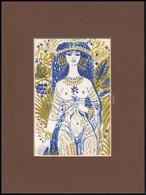 Reich Károly (1922-1988): Illusztráció, Ofszet, Papír, Utólag Jelzett, Paszpartuban, 17x11 Cm - Non Classés