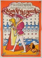 1976 Árendás József (1946-): A Bűvös Kő és A Csodakút, NSZK-olasz Rajzfilm Plakát, Hajtásnyommal, 56x40 Cm - Other Collections