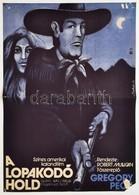 1974 Bakos István (1941-): A Lopakodó Hold, Amerikai Film Plakát, Főszereplő: Gregory Peck, Sarokhiánnyal, 56x39 Cm - Other Collections