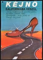 1983 Berta Gábor (?-): Kéjnő Kaliforniába Készül, Amerikai Film Plakát, Főszereplők: Sally Field, Tommy Lee Jones, Hajtá - Other Collections