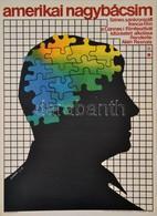 1981 Görög Lajos (1927-1995): Amerikai Nagybácsim, Francia Film Plakát, Rendezte: Alain Resnais, Hajtásnyommal, 57,5x41  - Other Collections