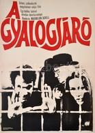 1975 Killer István (?-): A Gyalojáró, Nyugatnémet-svájci Film Plakát, Hajtásnyommal, 57x41 Cm - Other Collections
