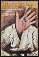1983 Koppány Simon (1943-): Karate Lengyel Módra, Lengyel Film Plakát, Hajtásnyommal, 60x41 Cm - Other Collections