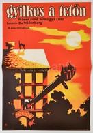 1979 Koppány Simon (1943-)-Hodosi Mária (1943-): Gyilkos A Tetőn, Svéd Film Plakát, Hajtásnyommal, 57x39,5 Cm - Other Collections