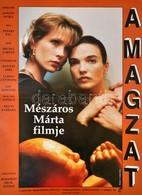 1993 Ladányi Klára (?-): A Magzat, Magyar-lengyel Film Plakát, Rendezte: Mészáros Márta, Hajtásnyommal, 83x58,5 Cm - Other Collections