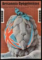 1983 Mayer Gyula (1942-2002): Britannia Gyógyintézet, Angol Film Plakát, Rendezte: Lindsay Anderson, Hajtásnyommal, 59x4 - Other Collections