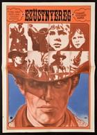 1979 Miklós Károly (?-): Ezüstnyereg, Olasz Western Filmplakát, Főszereplő: Giuliano Gemma, Hajtásnyommal, 59x41,5 Cm - Other Collections