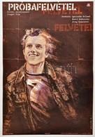1979 Molnár Kálmán (1943-2012): Próbafelvétel, Lengyel Film Plakát, Hajtásnyommal, 56,5x39,5 Cm - Other Collections