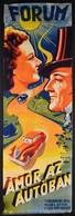 1940 Muskovszky László (1902-?): Ámor Az Autóban, Olasz Film Plakát, Főszerepben: Vittorio De Sica, Forgalmazza: Kárpát  - Other Collections