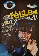 1978 Sándor Margit (1927-): Félelem A Város Felett, Francia Bűnügyi Film Plakát, Főszerepben Jean-Paul Belmondo, 57x39 C - Other Collections