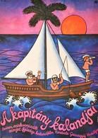 1981 Sóvári Ferenc (?-): A Kapitány Kalandjai, Szovjet Ifjúsági Kalandfilm Plakát, Hajtásnyommal, 56x40 Cm - Other Collections