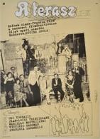 1981 Szilvásy Nándor (1927-2011): A Terasz I-II. Olasz-francia Film Plakát, Rendezte: Ettore Scola, Hajtásnyommal, 59x42 - Other Collections