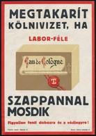 1930 Labor-féle Szappan, Reklámplakát, Szép állapotban, 23×16 Cm - Other Collections