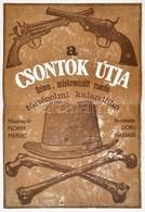 1980 A Csontok útja, Román Történelmi Film Plakát, Rendezte: Doru Nastase, Hajtásnyommal, 58,5x40 Cm - Other Collections