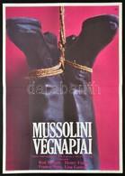 1975 Mussolini Végnapjai, Olasz Film Plakát, Főszereplők: Henry Fonda, Franco Nero, Hajtásnyommal, 56,5x40 Cm - Other Collections