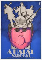 1973 A Halál Válogat, Csehszlovák Bűnügyi Film Plakát, Hajtásnyommal, 56x39,5 Cm - Other Collections