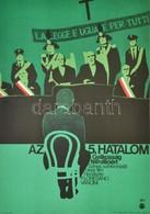 1975 Az 5. Hatalom, Gyilkosság Félmillióéert, Olasz Film Plakát, Rendezte: Floresano Vancini, Hajtásnyommal, 57x39,5 Cm - Autres Collections